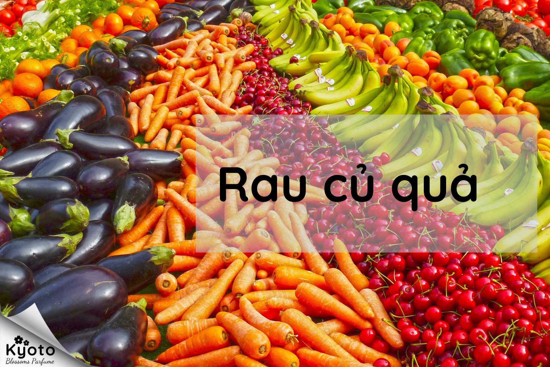 Nhóm hương rau củ quả